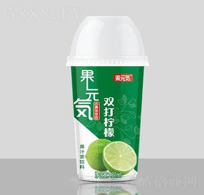 果元�菟�打柠檬果汁茶饮料420ml