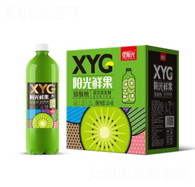 XYG�光�r果益生菌�l酵�J猴桃汁1.25L×6瓶