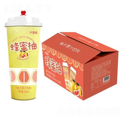 三���w果媛蜂蜜柚杯�b果汁�料620ml×15杯