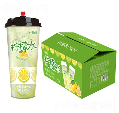 三���w果媛��檬水杯�b果汁�料620ml×15杯