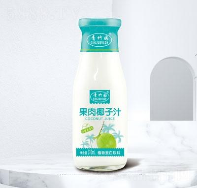 青竹�@果肉椰子汁