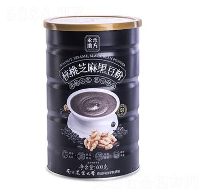 永禾磨方核桃芝麻黑豆粉600g�a品�D