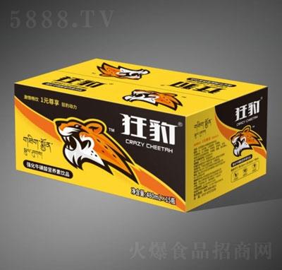 狂豹强化牛磺酸营养素饮品480mlX15瓶(箱装)