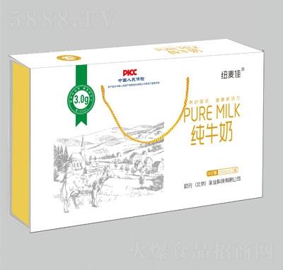 纽麦佳纯牛奶250mlX12