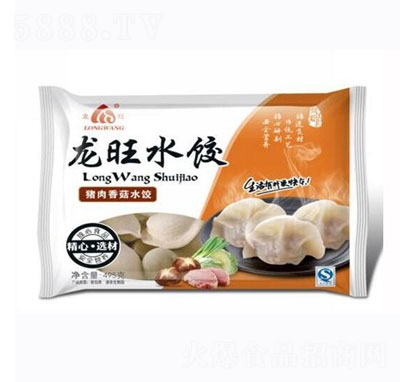 龙旺水饺猪肉香菇495g