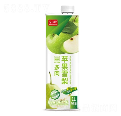 艾尔牧苹果雪梨复合果肉果汁饮料1L