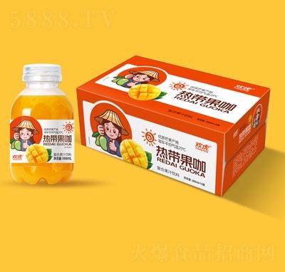 欢虎热带果咖芒果果汁复合箱装