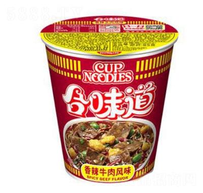 日清食品合味道杯面香辣牛肉风味方便面83g