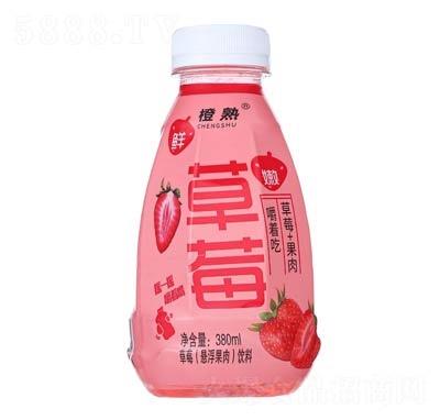 橙熟草莓悬浮果肉饮料380ml