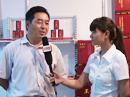 火爆饮料网在第八届河南省糖酒会上采访郑州顶真食品