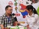 漯河广源肉食品公司司经理接受火爆食品饮料招商网记者采访