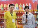 郑州糖酒会山东冠县尊仕食品优德88免费送注册体验金接受食品网记者采访