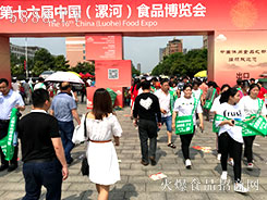 2018漯河食博会,火爆食品网宣传的气势磅礴!