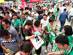 2018漯河食博会,满场遍布亚虎app客户端下载袋,全场亚虎app客户端下载绿!