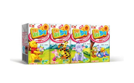 包装设计 果蔬5 7产品包装富有童趣,采用宝宝喜欢的迪士尼维尼系列形
