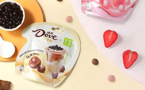 德芙×奈雪奶茶味软糖夹心巧克力