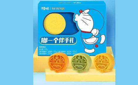 百草味哆啦A梦月饼礼盒