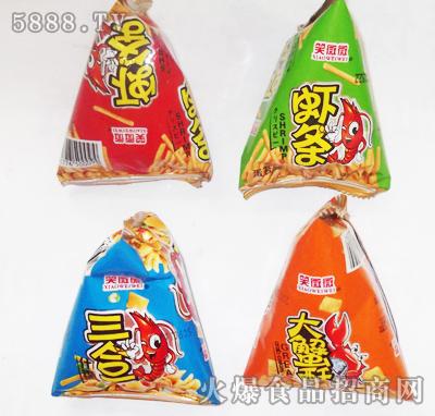 """""""笑微微""""休闲三角包,撬动膨化食品市场"""