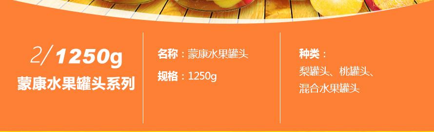 蒙康水果罐头1250g