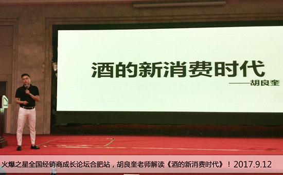 火爆之星全国经销商成长论坛合肥站,胡良奎老师解读《酒的新消费时代》!
