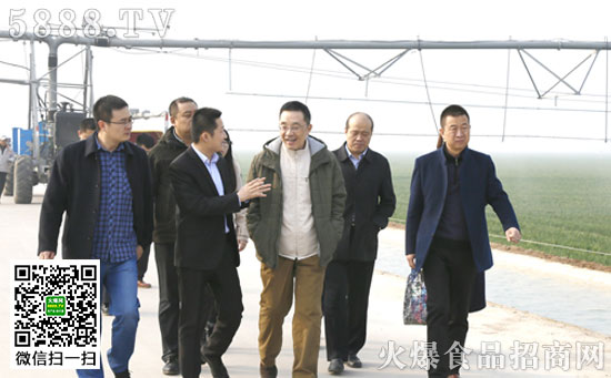 中央政策研究室经济局原局长吴新力一行莅临中鹤集团指导工作
