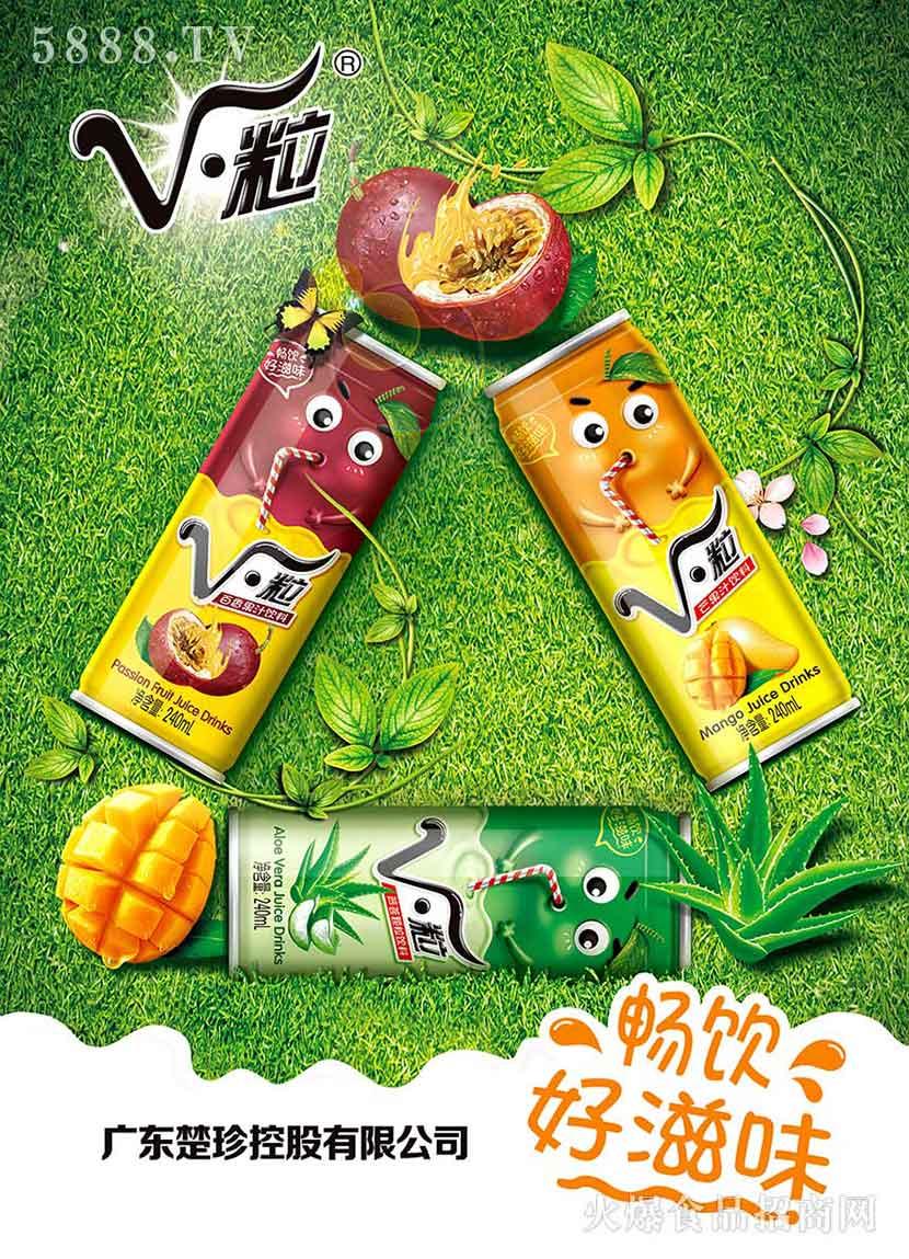 V・粒果汁海报