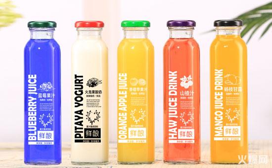 鲜酿玻璃瓶果汁