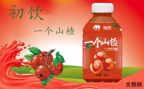 初饮一个山楂山楂汁饮料:颜值爆表!终端陈列有优势!真正的健康好滋味!