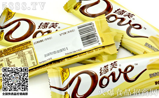 德芙奶香白巧克力