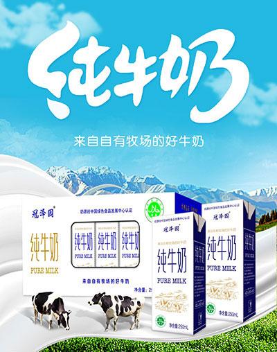冠泽园纯牛奶