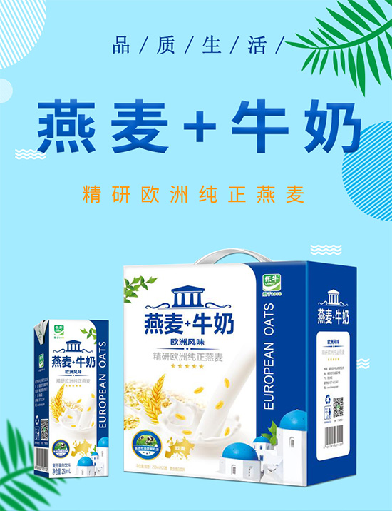 乐牛燕麦+牛奶复合蛋白饮料