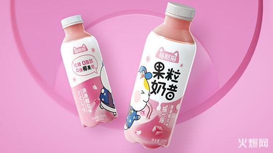 福财猫果粒奶昔浪漫樱花味