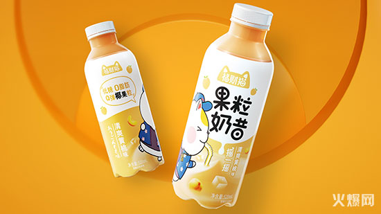 福财猫果粒奶昔清爽黄桃味